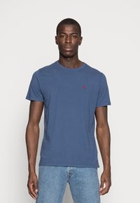 Abercrombie & Fitch - 3 PACK - T-shirt basic - blue/white/grey - 3