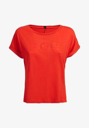AUFGESETZTER  - Print T-shirt - hellrot