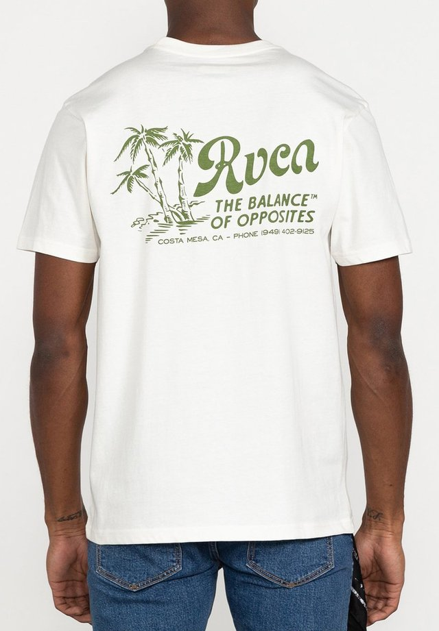 T-shirt print - antique white