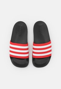 adidas Performance - ADILETTE SHOWER UNISEX - Badslippers - core black/footwear white/vivid red - 3