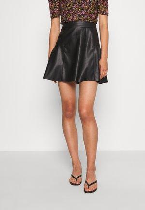 ONLVIBE SKATER SKIRT - A-line skirt - black