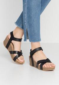Ca'Shott - Platform sandals - black - 0