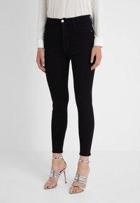 Frame Denim - ALI HIGH RISE CIGARETTE - Jeans straight leg - noir - 0