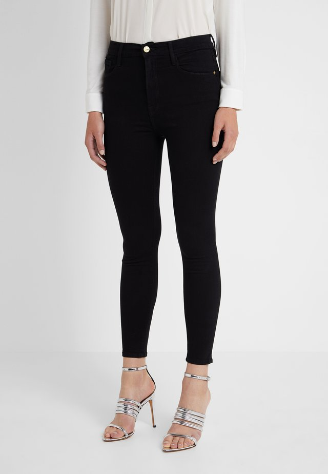 ALI HIGH RISE CIGARETTE - Jeansy Straight Leg - noir
