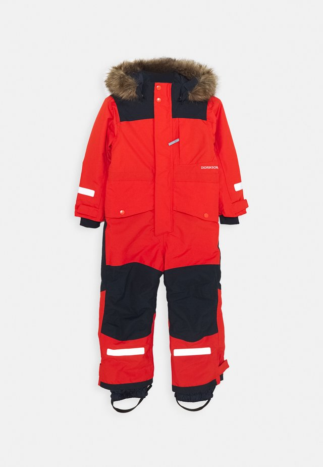 BJÖRNEN KIDS COVER - Snowsuit - poppy red