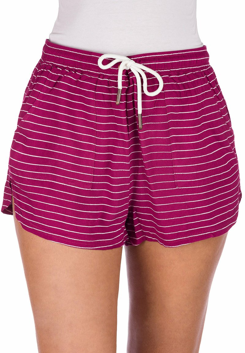 Kazane - ELSA  - Shorts - beaujolais/stripe