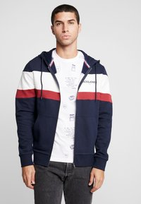 Jack & Jones - JORNEWSHAKEDOWN BLOCK ZIP  - veste en sweat zippée - navy blazer - 0