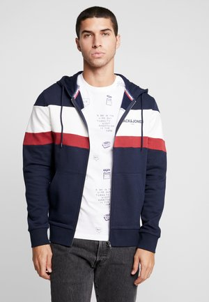 JORNEWSHAKEDOWN BLOCK ZIP  - Zip-up hoodie - navy blazer