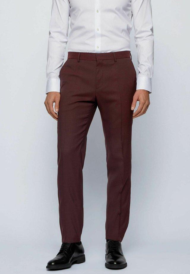 ESP GANDER - Pantalon de costume - dark red