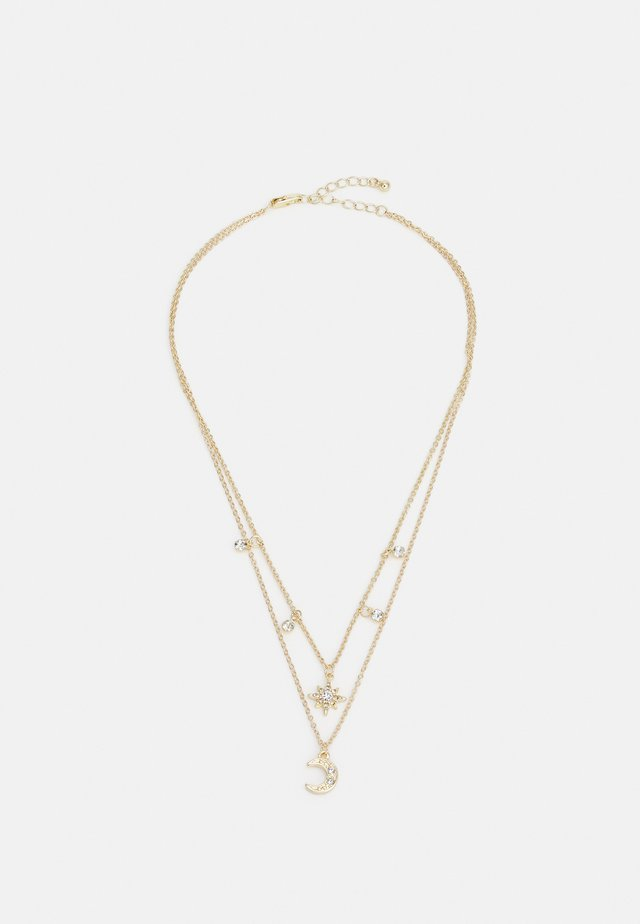 PCPINA NECKLACE - Smykke - gold-coloured/clear