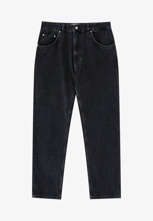 Džíny Straight Fit - mottled dark grey