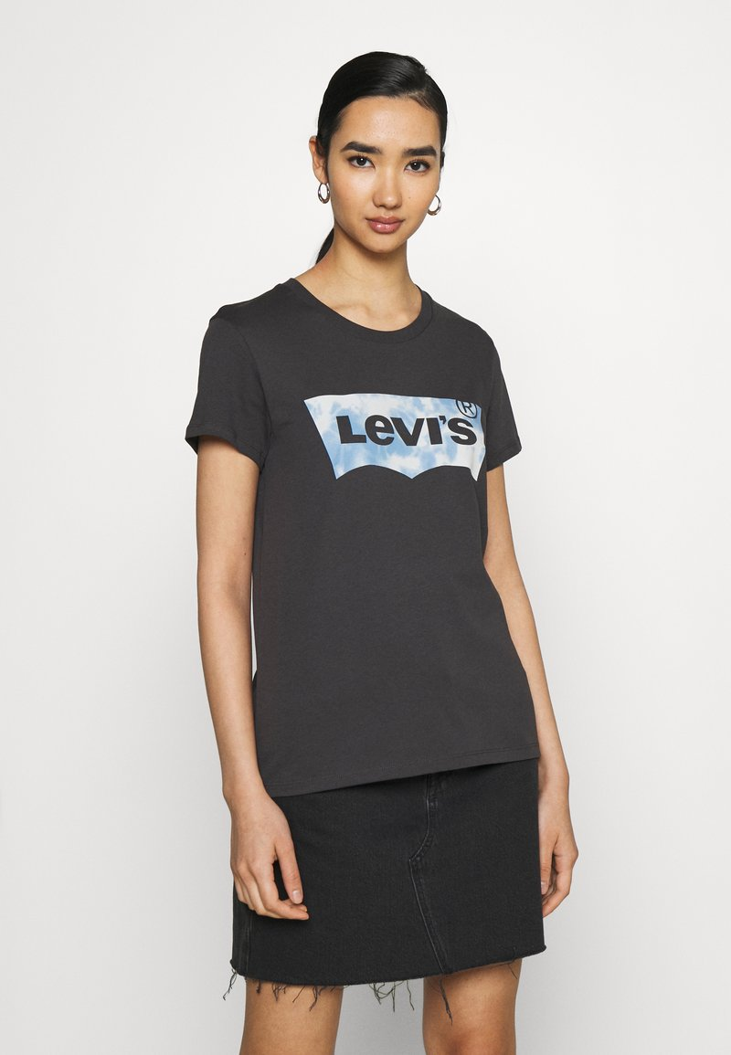 Levi's® - THE PERFECT TEE - Marškinėliai su spaudiniu - anthracite