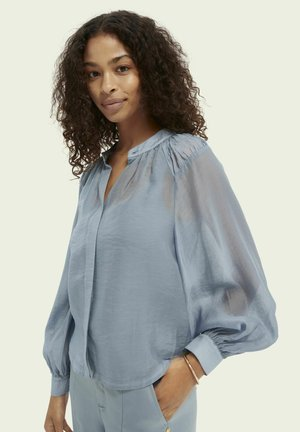 Button-down blouse - french blue