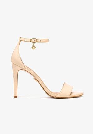 MEGAN - High heeled sandals - beige