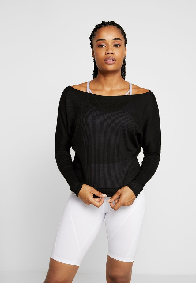 OFF SHOULDER - Maglietta a manica lunga - black