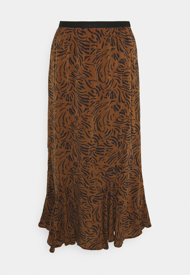 FORD SKIRT - Maxi skirt - tobacco