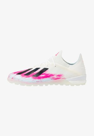 X 19.1 TF - Astro turf trainers - footwear white/core black/shock pink