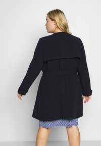 Lauren Ralph Lauren Woman - CREPE SYNTHETIC COAT - Frakker / klassisk frakker - midnight - 2