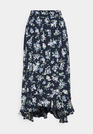 PCDAKOTA MIDI SKIRT TALL - A-line skirt - sky captain/flowers