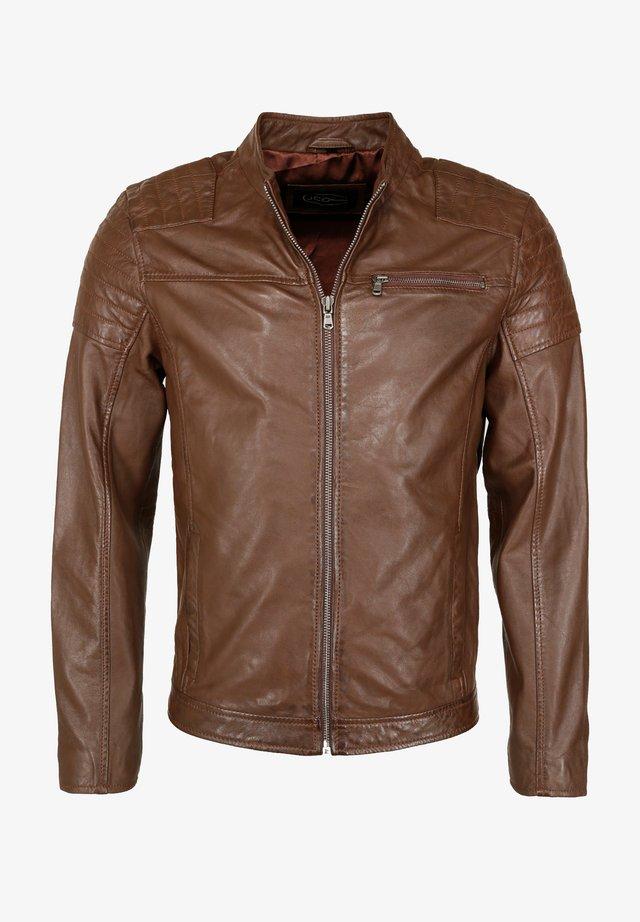 ROCHA - Leather jacket - brown