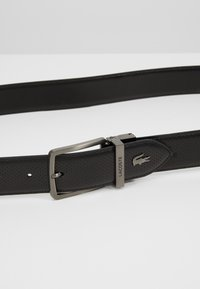 Lacoste - REVERSIBLE CURVED STITCHED EDGES - Belt - black - 5