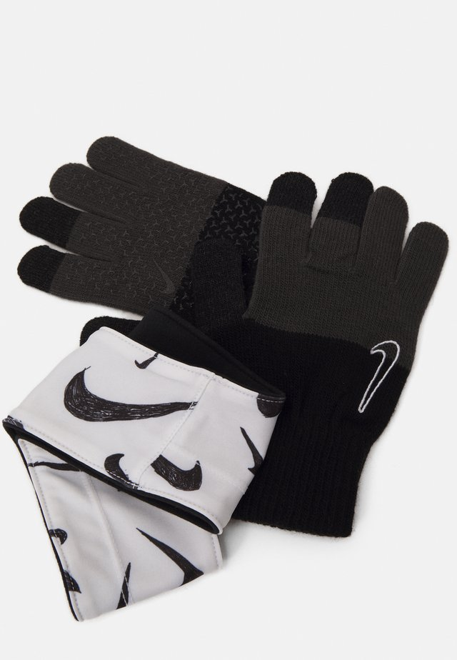 KIDS HYPERSTORM HEADBAND AND GLOVES SET - Cache-oreilles - black/white