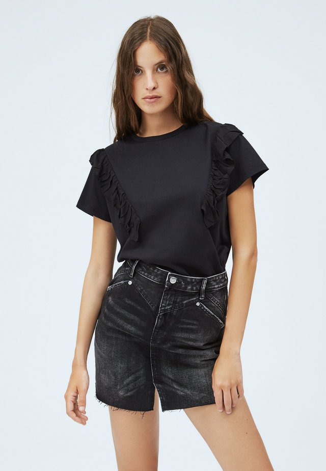 FANCY - T-shirt imprimé - coal