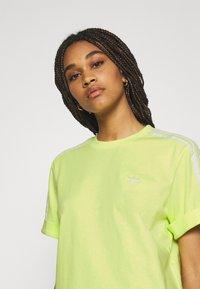 adidas Originals - TEE DRESS - Jersey dress - pulse yellow - 4
