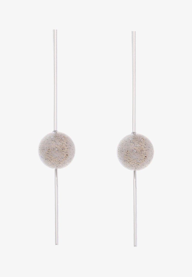 Liebeskind Berlin - OHRHÄNGER EDELSTAHL - Earrings - silver-coloured