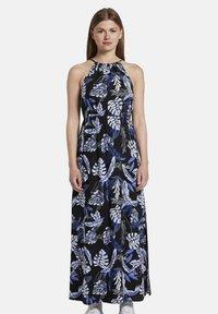 TOM TAILOR DENIM - TROPICAL  - Maxi dress - black blue tropical print - 0
