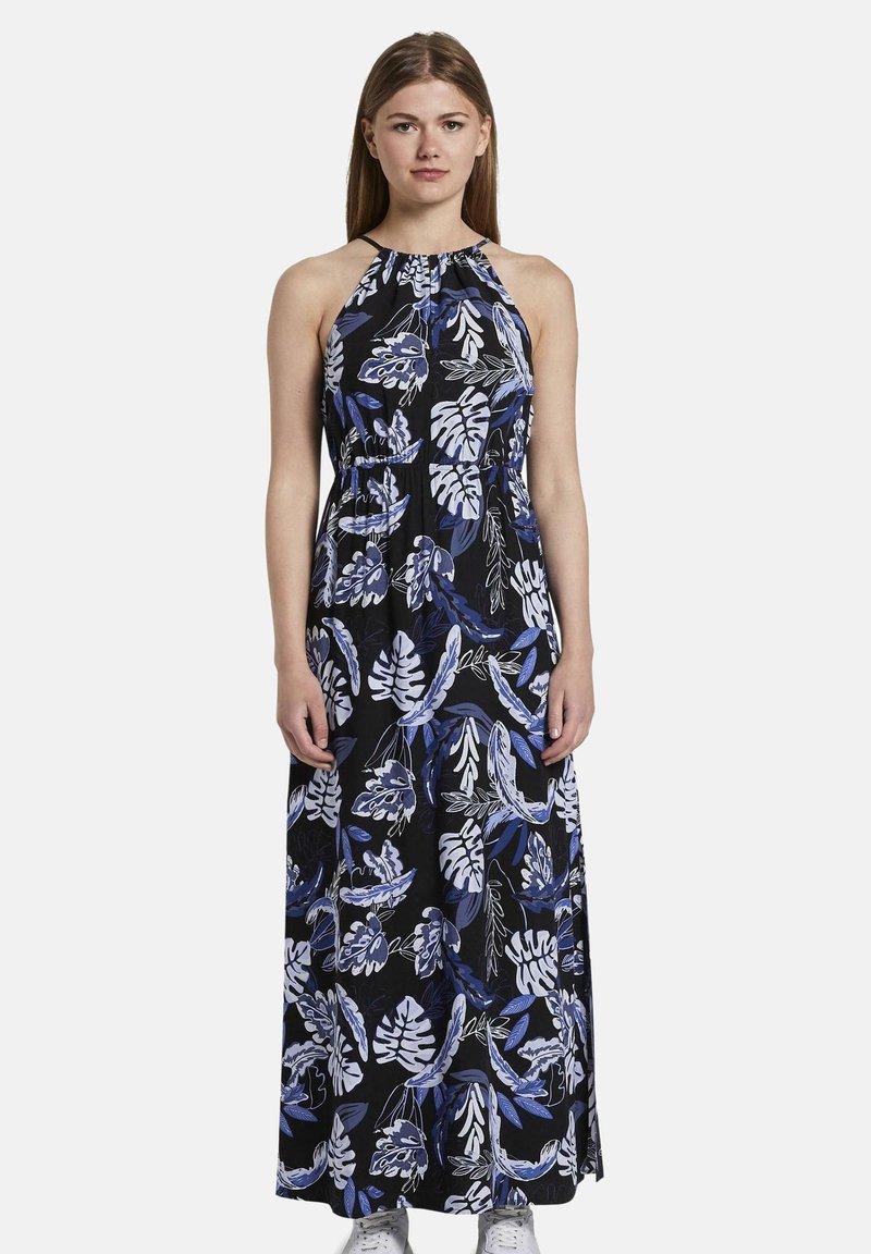 TOM TAILOR DENIM - TROPICAL  - Maxi dress - black blue tropical print