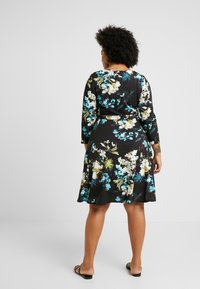 Evans - FLORAL FIT AND FLARE DRESS - Jersey dress - multi - 3