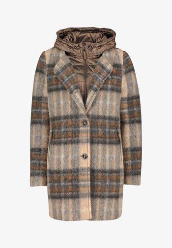 Winter coat - camel/grey