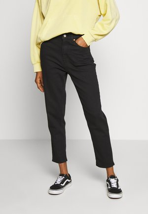 MOM JEAN - Jeans Tapered Fit - flash black