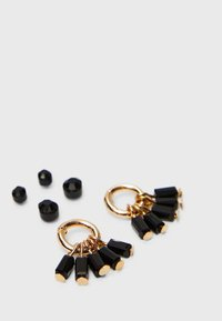 Stradivarius - Earrings - black - 4
