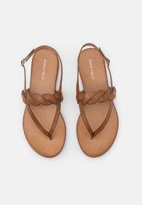 Anna Field - LEATHER - Sandály s odděleným palcem - brown - 5