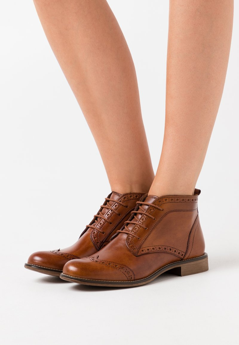 Anna Field - LEATHER - Ankle boots - cognac