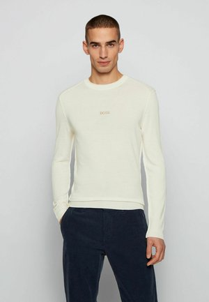 Strickpullover - open white
