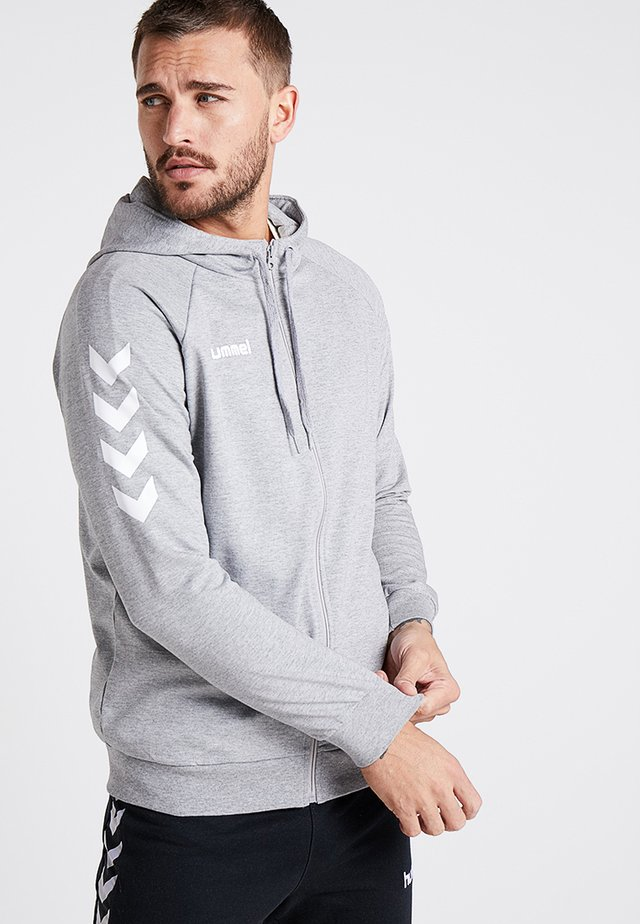 ZIP HOODIE - veste en sweat zippée - grey melange