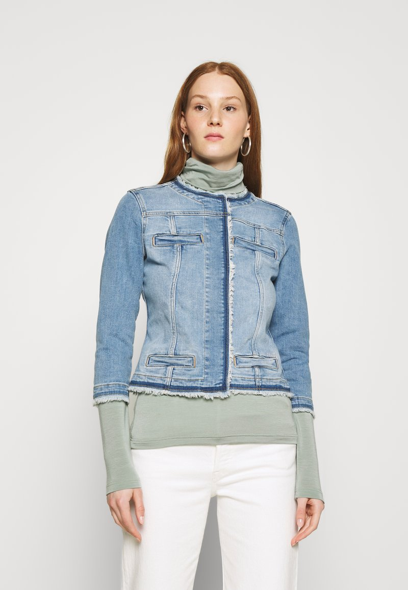 Liu Jo Jeans - GIACCA KATE - Jeansjakke - light blue denim
