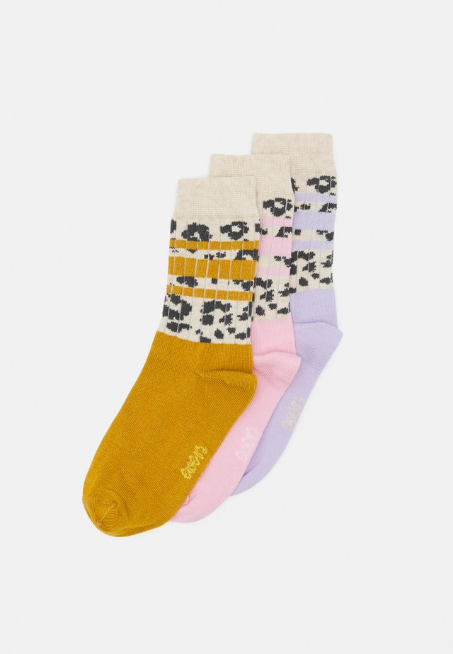 KIDSSOCKS LEOPARD STRIPES 3 PACK - Sokken - rosé/honey