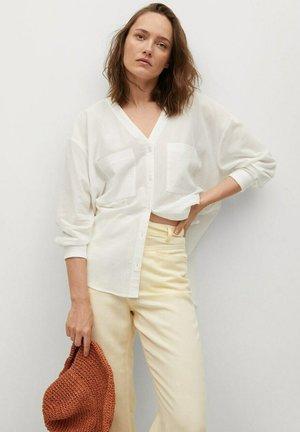 Bluse - gebroken wit