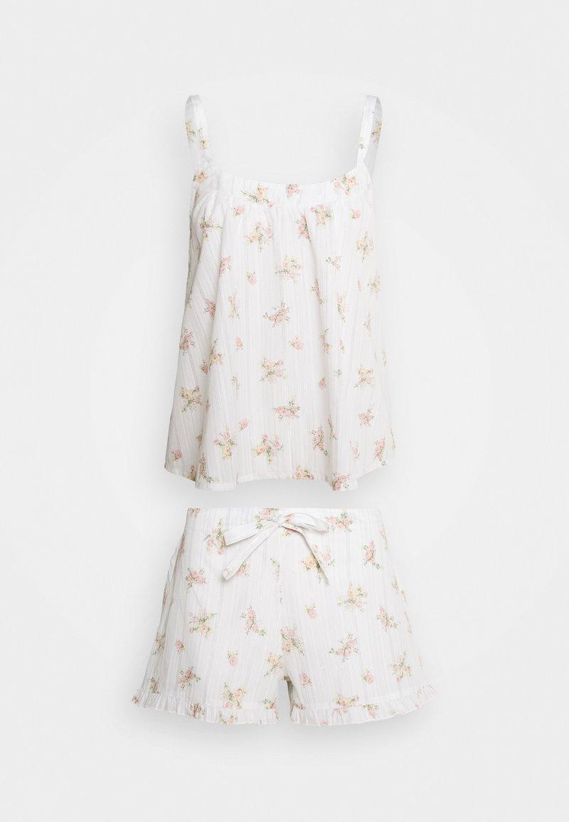 Marks & Spencer London - HANGING DITSY SET - Pyjamas - white