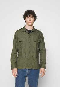Polo Ralph Lauren - CLASSIC FIT DOBBY UTILITY SHIRT - Shirt - soldier olive - 0