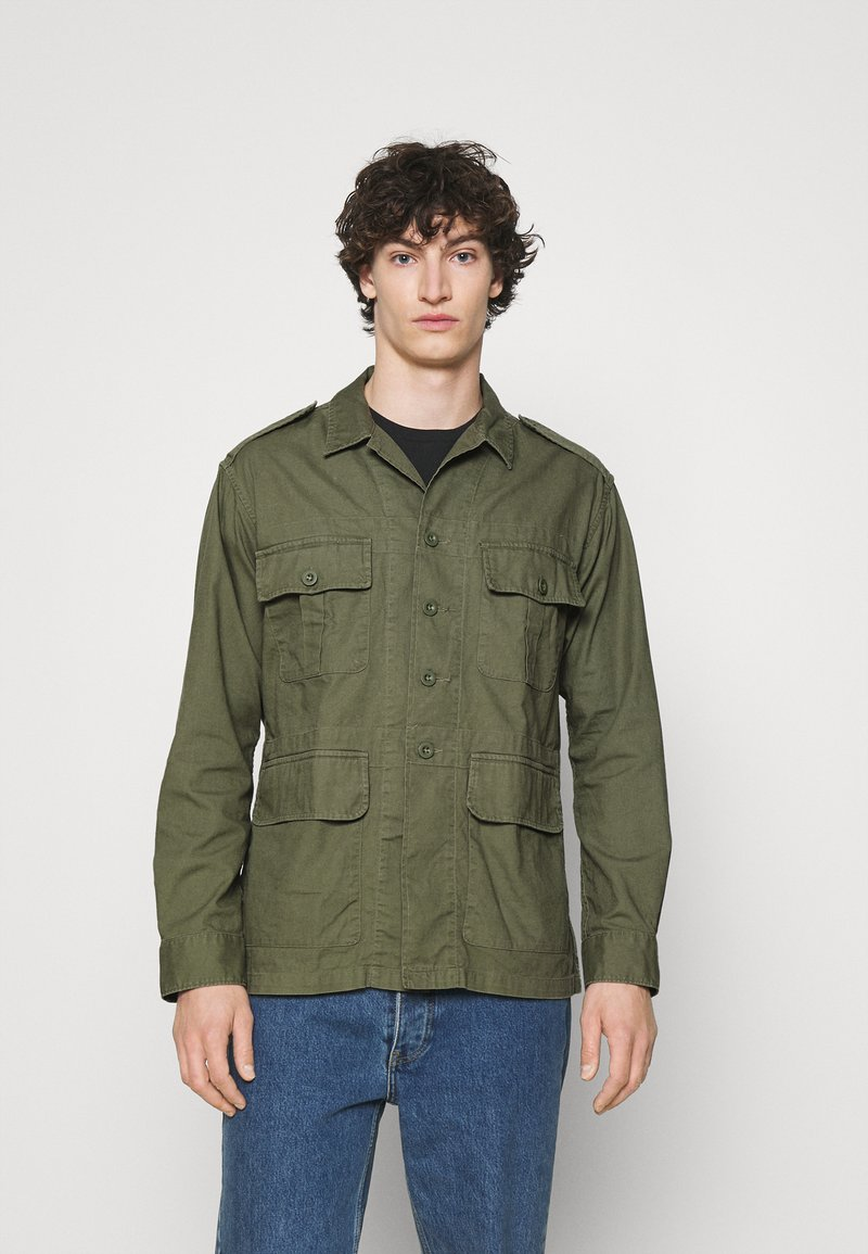 Polo Ralph Lauren - CLASSIC FIT DOBBY UTILITY SHIRT - Shirt - soldier olive