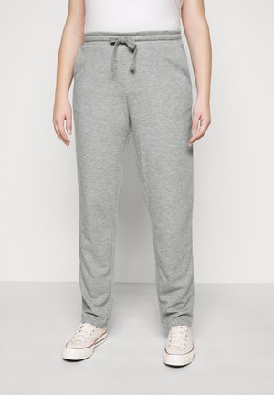 VMAMAIDRAWSTRING TROUSER - Tracksuit bottoms - light grey melange