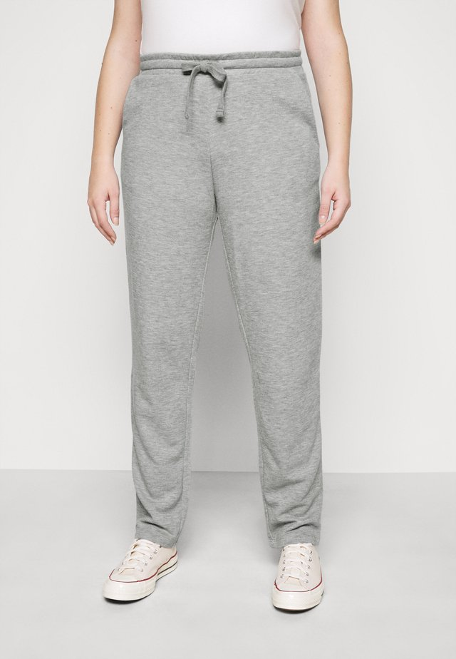 VMAMAIDRAWSTRING TROUSER - Pantalones deportivos - light grey melange