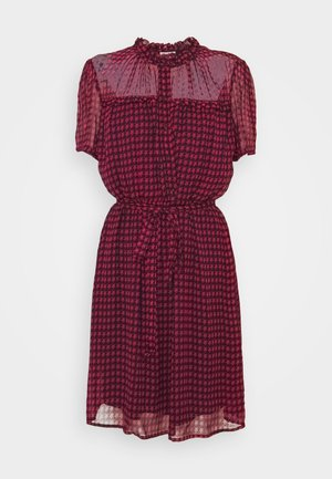 Shirt dress - fuxia star