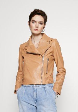 PAISLY - Leather jacket - cognac