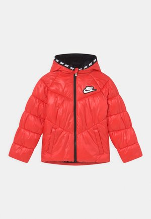 CHEVRON CINCHED PUFFER - Winter jacket - chile red